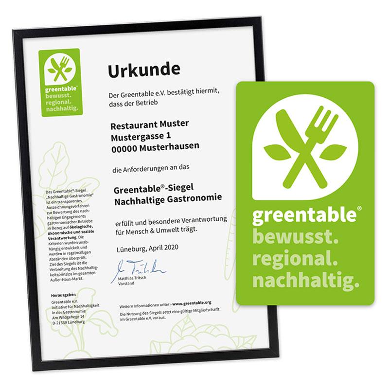Greentable Auszeichnung